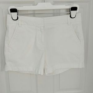 "J. Crew 100% Cotton 5"" Chino Shorts - White"